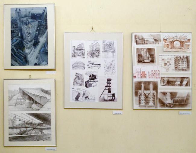 Выставка конкурса «Рисунок современной архитектуры»