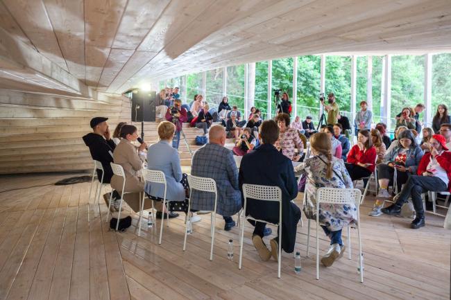 Пресс-конференция фестиваля «Арт-Овраг 2019» в «Павильоне будущего». 14 июня 2019 г. Выкса.