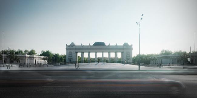 Реконструкция входной площади в парк имени Горького в Москве. Проект бюро «Новое».