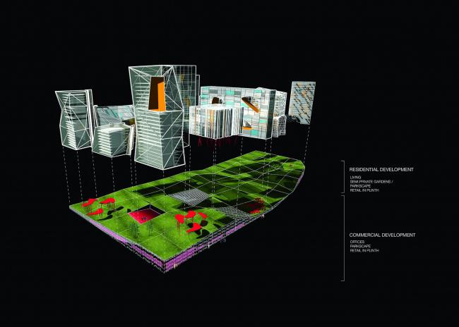 Многофункциональный комплекс на ул. Бухвостова © архитектор Олсоп Уильям