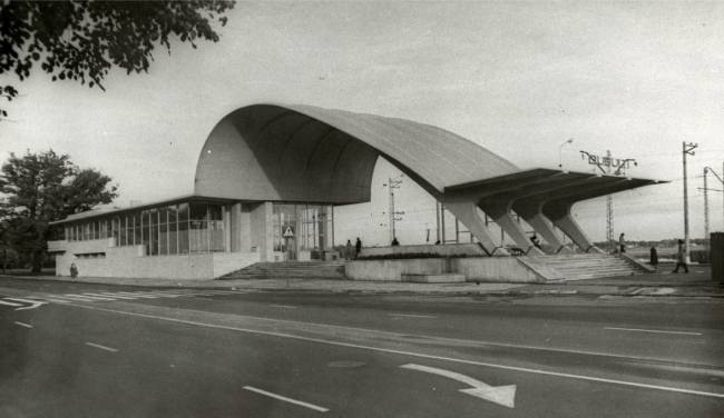 The railway station in Dubulty, Latvia 1977