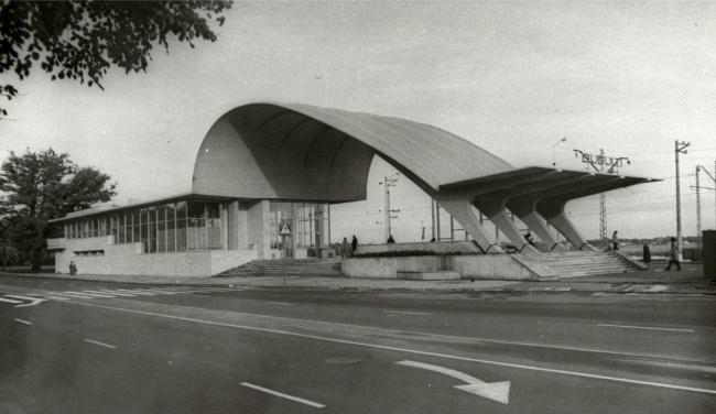 The railway station in Dubulty, Latvia 1977