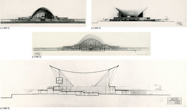 Sea terminal in Leningrad. A competition project. III prize