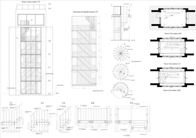 Лестница в опоре на набережной. Севкабель ПОРТ: проект-перспектива нового общественного пространства