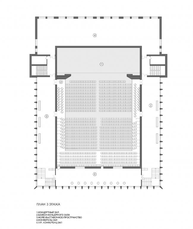 Концертный зал «Юпитер». План 3 этажа