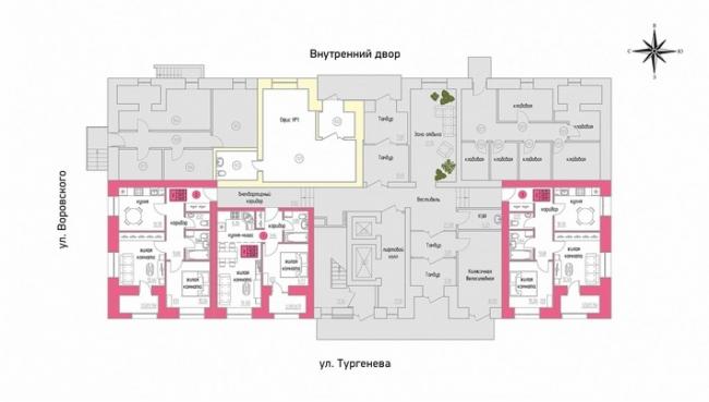 ЖК «Железно на Тургенева». План 1 этажа