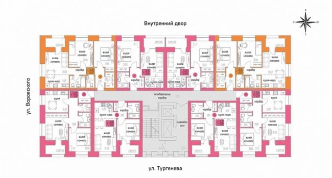 ЖК «Железно на Тургенева». План 5 этажа