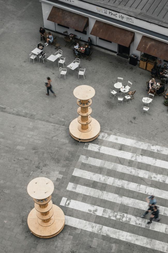 Бульвар, вид сверху. Севкабель ПОРТ / проект АБ «Хвоя»