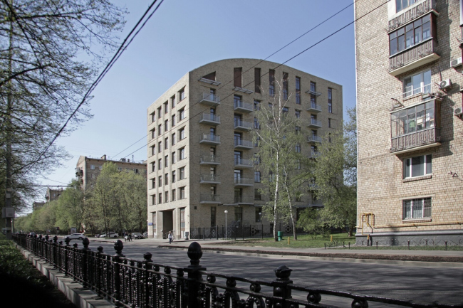 "Plan. The housing complex ""Shchastye na Serpukhovke"". View from the Serpukhovskoi Val Street"