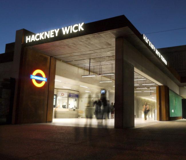 Станция Hackney Wick, Лондон.  Landolt + Brown