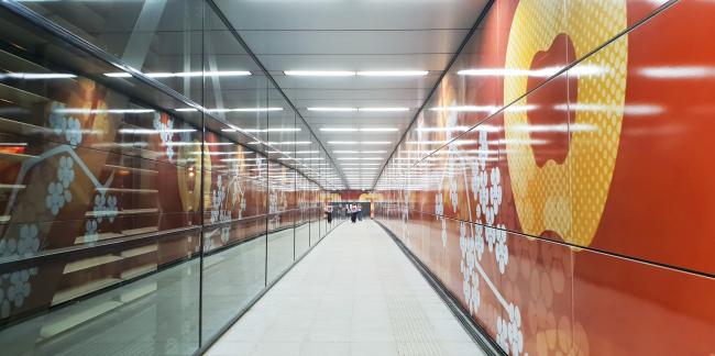 Cтанция метро «Мичуринский проспект». Фотография
