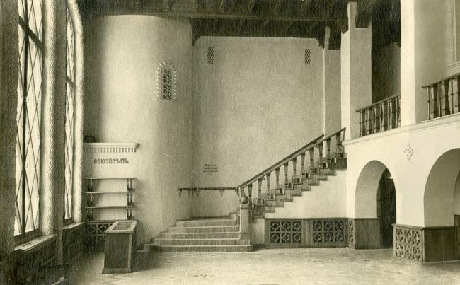 Новгородский вокзал, интерьер зала ожидания. Фотография 2001 г.