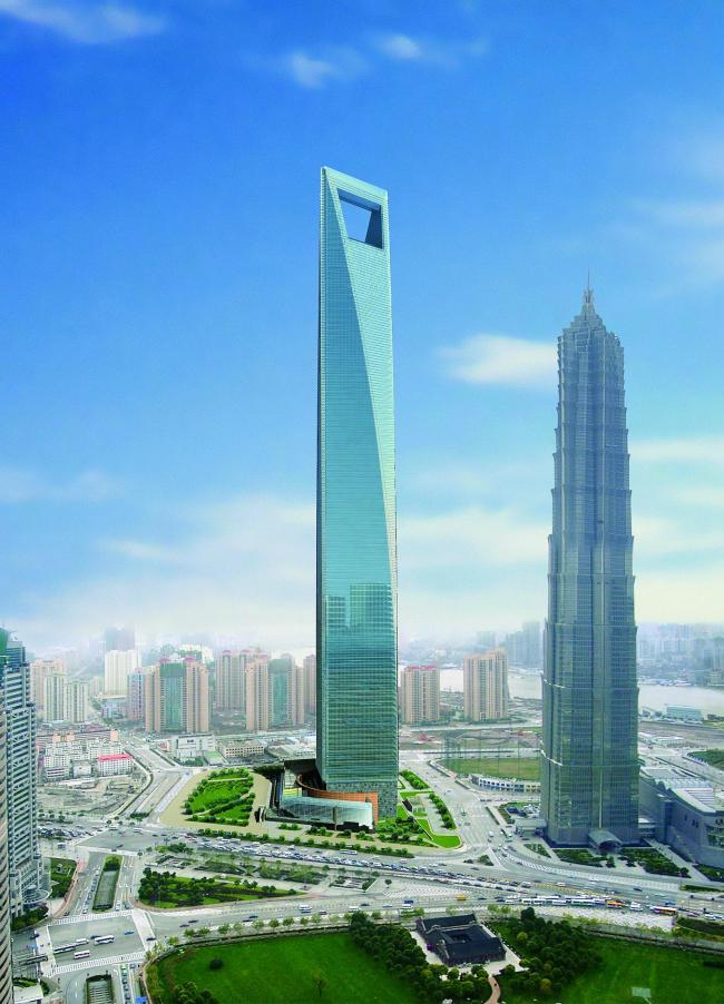 Шанхайский Всемирный финансовый центр. Проект © David Leventhal / KPF – Kohn Pedersen Fox