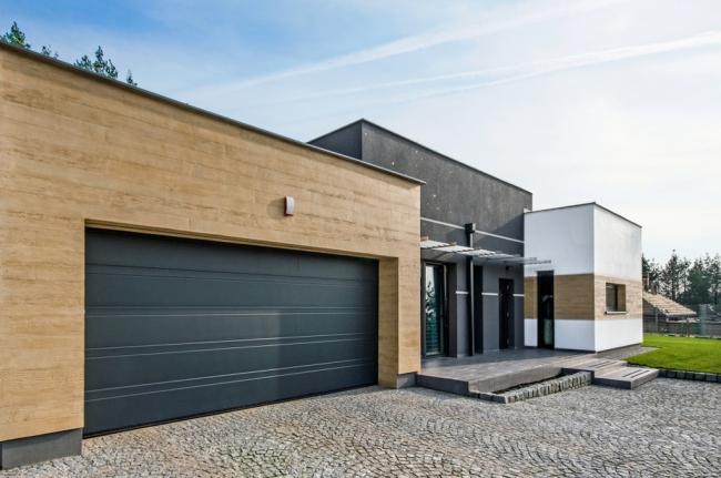 Фасад с использованием финишных покрытий Baumit