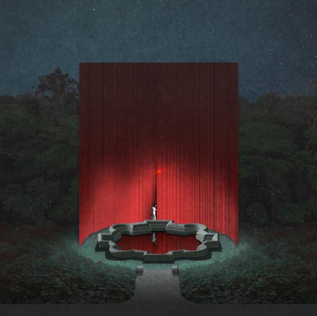 Проект для фестиваля «Ночь света. Отражения» в Гатчинском парке. 2019