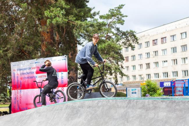 Открытие нового скейт-парка на Площади Октябрьской революции. Арт-Овраг 2019. Выкса