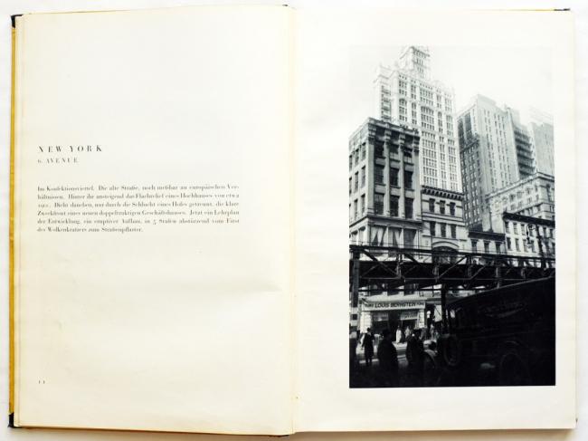 Разворот книги Amerika: Bilderbuch eines Architekten (1926)