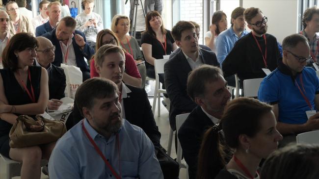 Аудитория семинара Hagemeister по архитектуре из клинкера в Москве