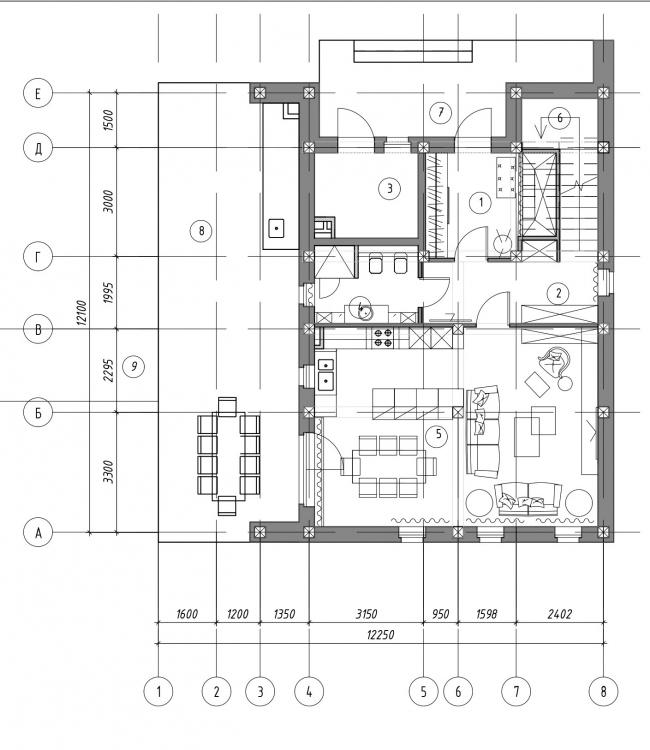 Коттеджный поселок «Горки-1». Дом на 150 м2, 1 этаж