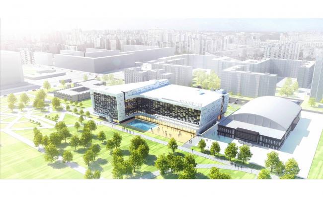 Проект спортивного комплекса «Академия», эскизный проект, 2017