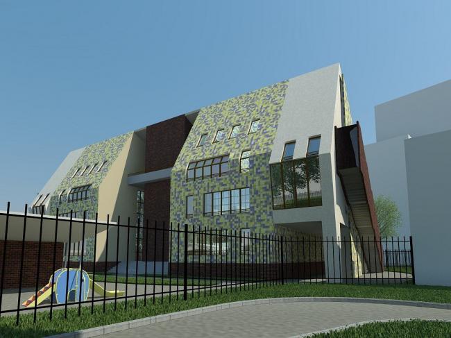 Проект реконструкции детского сада на Новокузнецкой ул. Вариант 1