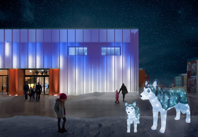 The architectural concept of ANGAR youth culture center, 2019