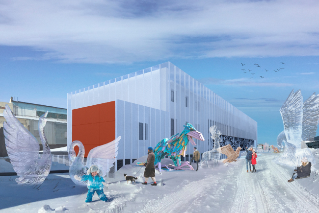 Архитектурная концепция молодежного центра АНГАР, 2019