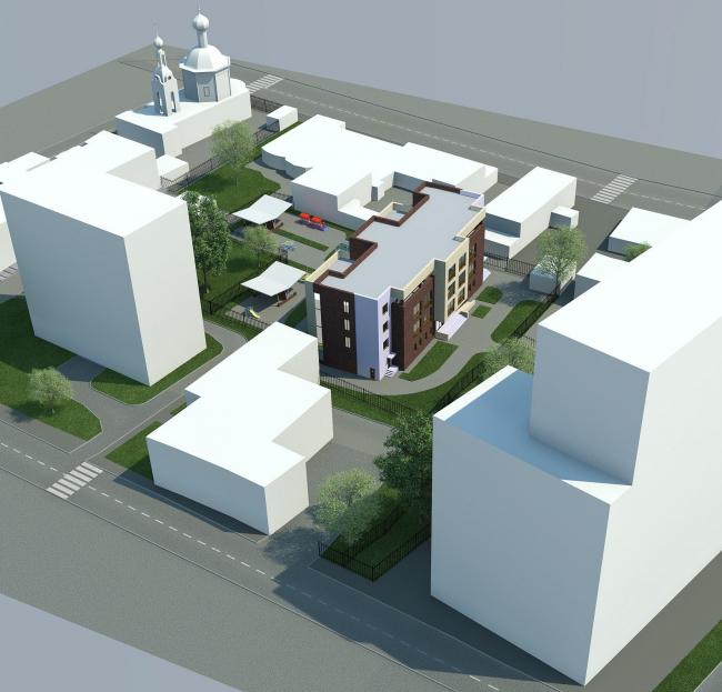 Проект реконструкции детского сада на Новокузнецкой ул. Вариант 2