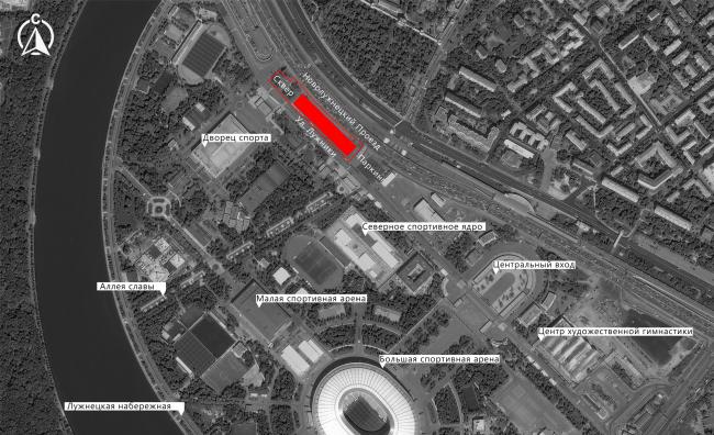 Расположение участка центра Единоборств