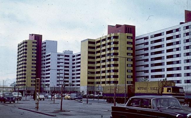 Район Меркишес Фиртель. Фото 1970 года