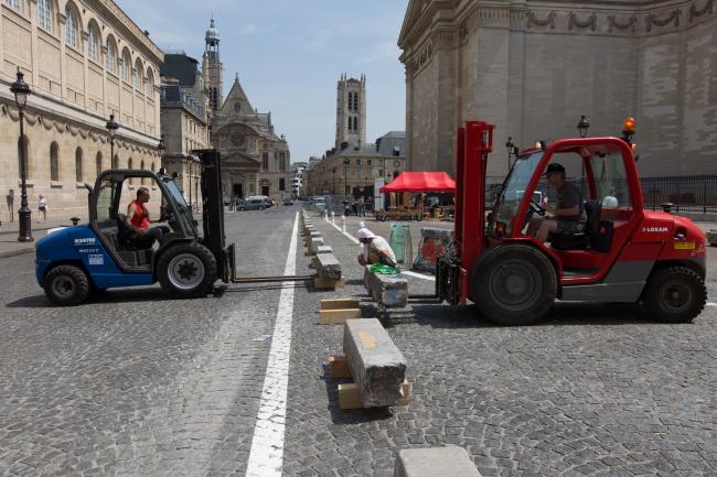 Площадь Пантеона – реконструкция. Реализация пробного этапа