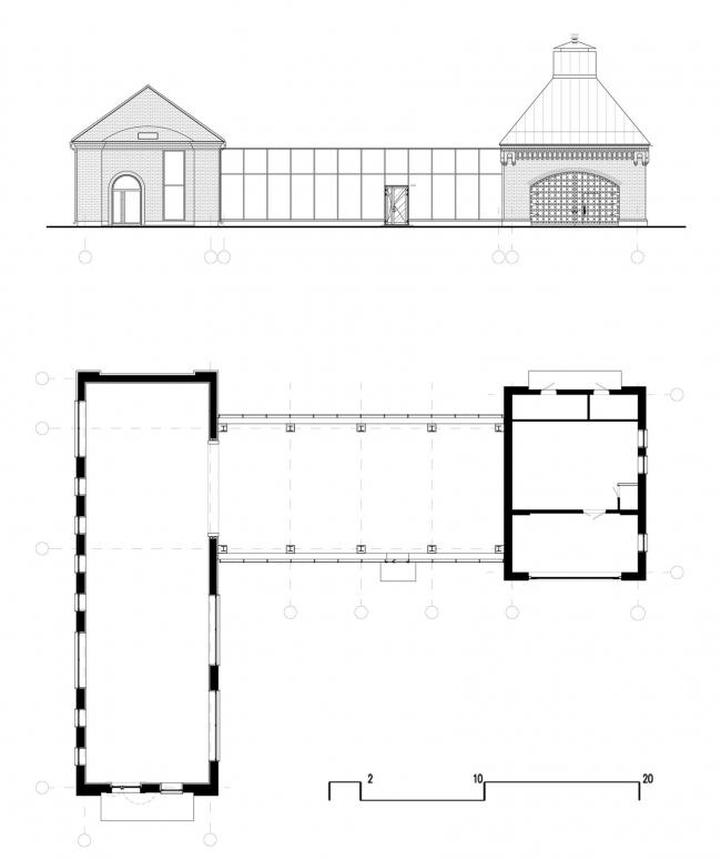 Музейно-выставочный комплекс Обуховского завода. План фасада
