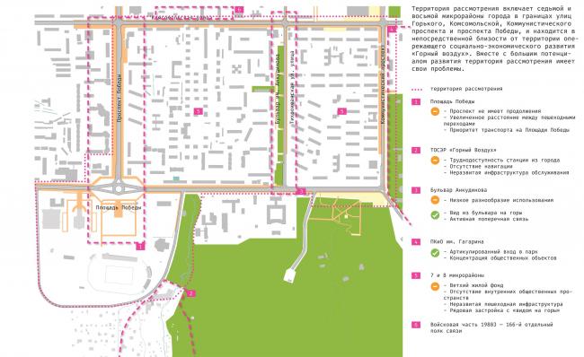 Территория рассмотрения, существующее положение. Концепция архитектурно-градостроительного развития территории городского округа «Город Южно-Сахалинск»