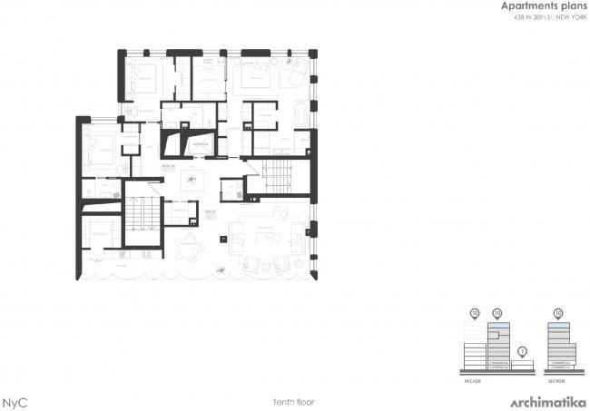 Комплекс Snail-apartments. План пентхауса на 10 этаже