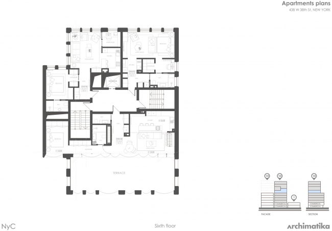 Комплекс Snail-apartments. План 6 этажа
