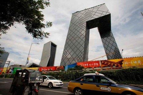 Рем Колхас, Оле Шерен. Комплекс Центрального Китайского Телевидения в Пекине