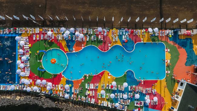 Развитие общественных пространств Республики Татарстан. Вид сверху на бассейн, Альметьевск
