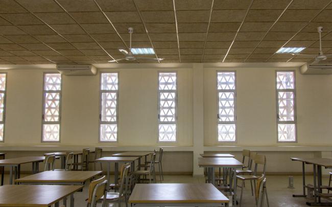 Лекторий в Университете имени Алиуна Диопа. Классная комната