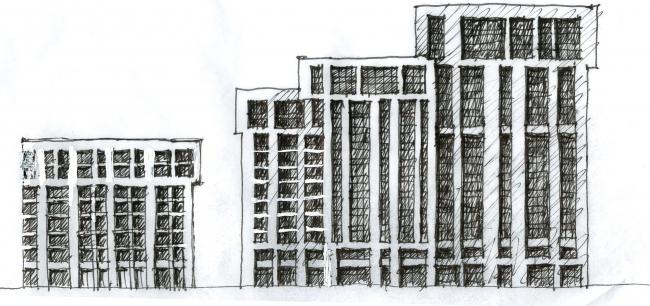 Архитектурно-градостроительная концепция строительства МФК на территории западной части Нагатинской поймы. Эскиз. Конкурсный проект, 2016