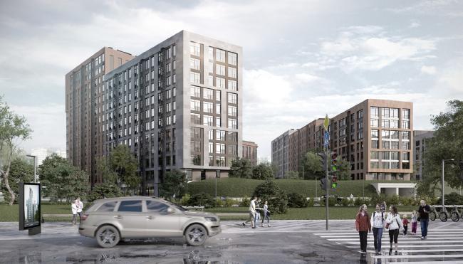 Архитектурно-градостроительная концепция строительства МФК на территории западной части Нагатинской поймы. Конкурсный проект, 2018