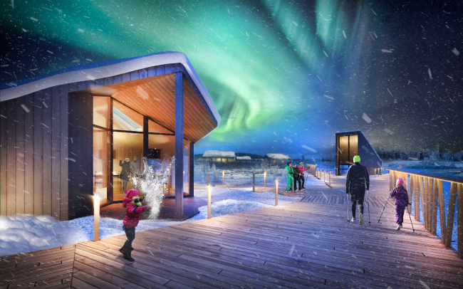 Concept of a tourist cluster in the settlement of Oymyakon, the winning project
