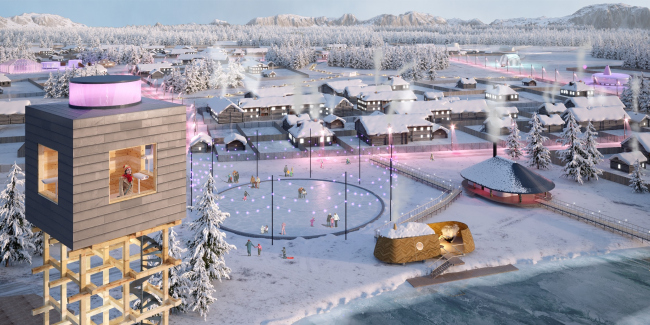 Concept of a tourist cluster in the settlement of Oymyakon