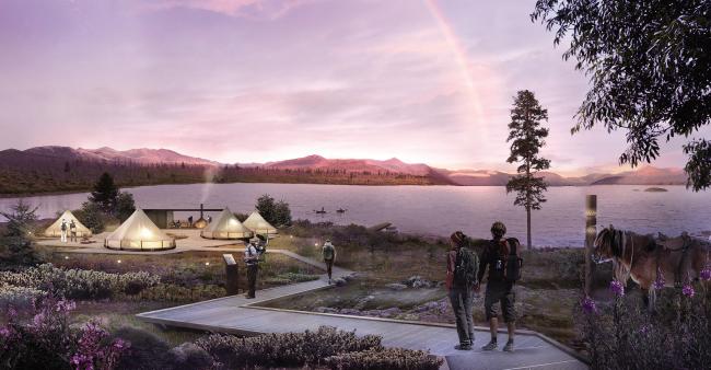 Концепция туристского кластера в селе Оймякон. Озеро Лабынкыр