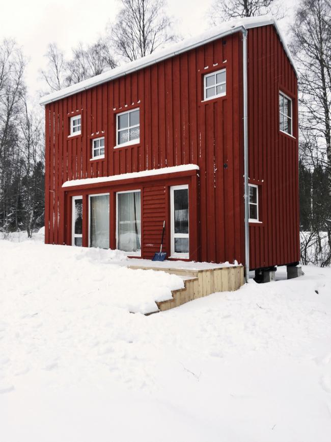 Красный дом. Ладожское озеро. Архитектор Иван Кожин