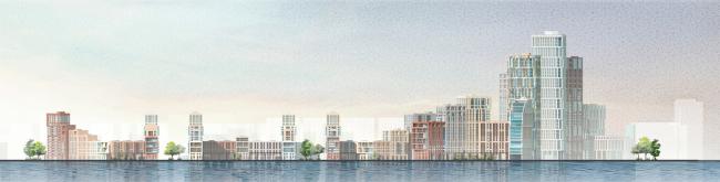 Архитектурно-градостроительная концепция строительства МФК на территории западной части Нагатинской поймы. Конкурсный проект, 2016