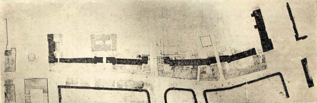 Генеральный план застройки правой стороны улицы Горького от Охотного ряда до Советской площади