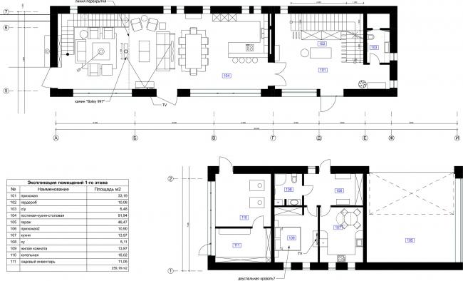 План 1 этажа. Усадьба Завидное
