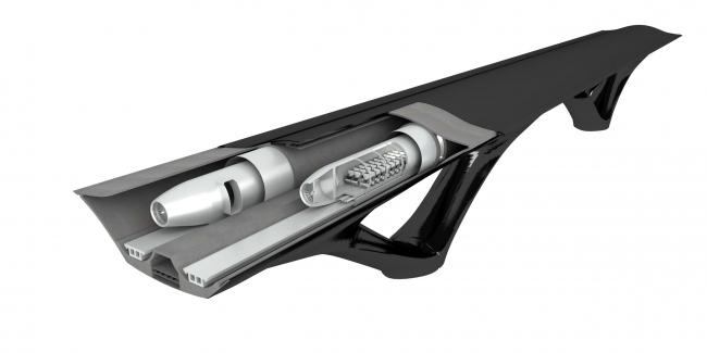 Несущая система для поездов Hyperloop