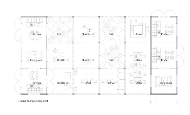LINES REHAB. Фрагмент плана 1 этажа