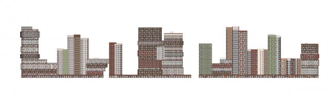 """""""Bunin"""" housing complex. Facade 1"""